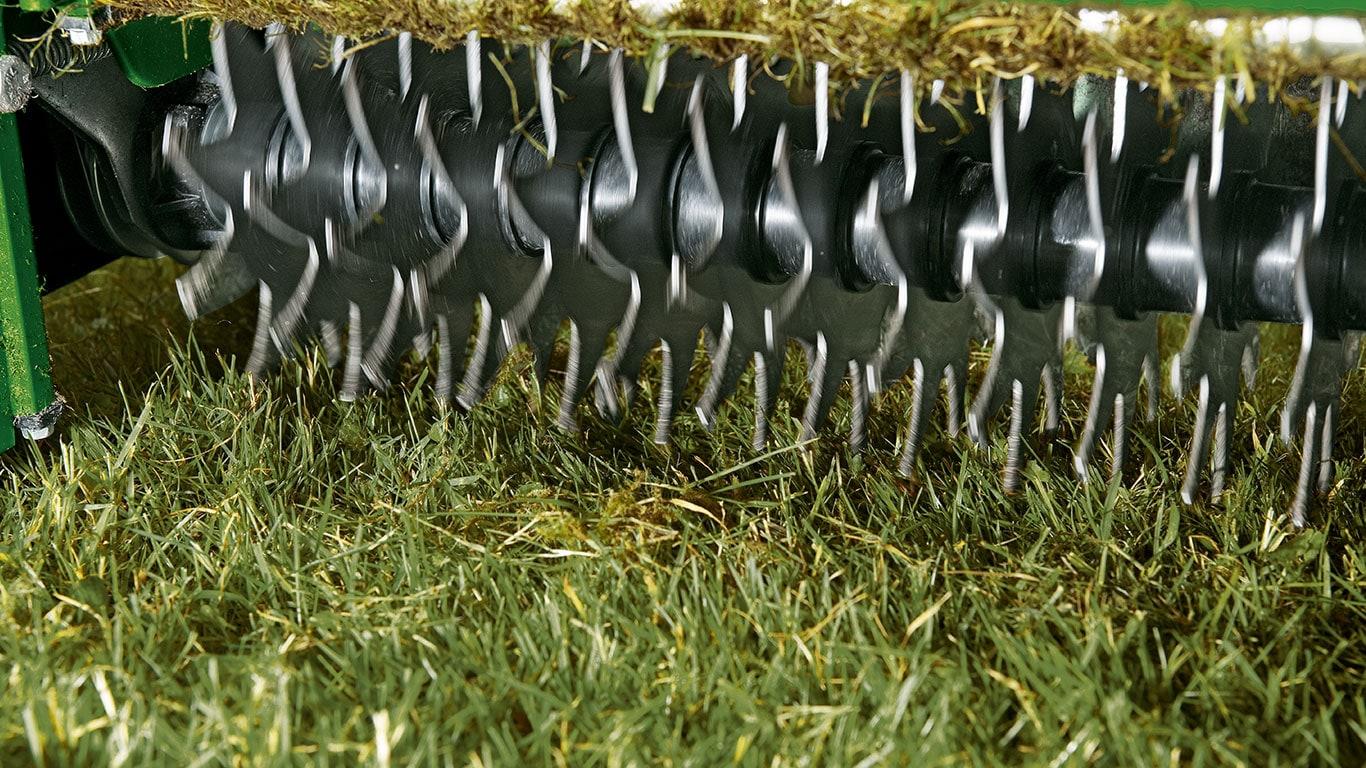 Qu'est-ce que la formation d'un tapis? En été, les restes d'herbe et de plantes s'accumulent entre les brins d'herbe, et finissent par recouvrir le gazon, ce qui obstrue le sol.